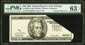 Error Notes:Foldovers, Fr. 2086-G $20 1999 Federal Reserve Note. PMG Choice Uncirculated63 EPQ.. ...