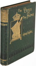 Books:Literature Pre-1900, Mark Twain. The Prince and the Pauper. Boston: 1882. FirstU. S. edition....