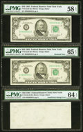 Error Notes:Blank Reverse (100%), Fr. 2122-B $50 1985 Federal Reserve Notes. Three ConsecutiveExamples. PMG Gem Uncirulated 65 EPQ, Choice Uncirculated 64EPQ,... (Total: 3 notes)