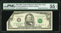 Error Notes:Foldovers, Fr. 2125-B $50 1993 Federal Reserve Note. PMG About Uncirculated 55EPQ.. ...