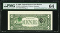 Error Notes:Inverted Third Printings, Fr. 1924-A $1 1999 Federal Reserve Note. PMG Choice Uncirculated64.. ...