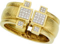 Estate Jewelry:Bracelets, Diamond, Platinum, Gold Bracelet, David Webb. ...