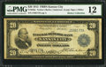 Fr. 826a $20 1915 Federal Reserve Bank Note PMG Fine 12