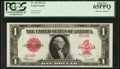 Large Size:Legal Tender Notes, Fr. 40 $1 1923 Legal Tender PCGS Gem New 65PPQ.. ...