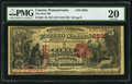 National Bank Notes:Pennsylvania, Canton, PA - $5 1875 Fr. 404 The First NB Ch. # 2505. ...