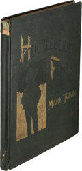 Books:Literature Pre-1900, [Salesman's Dummy]. Mark Twain. Adventures of HuckleberryFinn. New York: Charles L. Webster and Company, 1885. Firs...