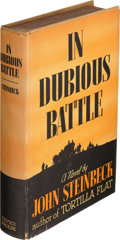 Books:Literature 1900-up, John Steinbeck. In Dubious Battle. New York: Covici-FriedePublishers, [1936]. First edition, signed by the author...