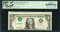 Error Notes:Inverted Third Printings, Fr. 1922-L $1 1995 Federal Reserve Note. PCGS Gem New 65PPQ.. ...
