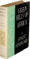 Books:Literature 1900-up, Ernest Hemingway. Green Hills of Africa. New York: CharlesScribner's Sons, 1935. First edition, signed by the aut...