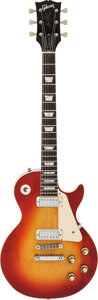 Musical Instruments:Electric Guitars, 1972 Gibson Les Paul Deluxe Cherry Sunburst Solid Body ElectricGuitar, #978759....