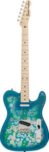 Musical Instruments:Electric Guitars, Circa 1980's Fender Telecaster Blue Floral Solid Body ElectricGuitar, Serial # P075111....