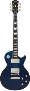 Musical Instruments:Electric Guitars, 2006 Gibson Les Paul Standard Blue Solid Body Electric Guitar Ownedby Roger Fisher of Heart, Serial #029060326....