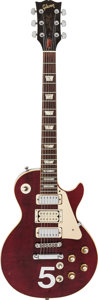 Musical Instruments:Electric Guitars, 1976 Gibson Les Paul Deluxe Wine Red Solid Body Electric Guitar,#00-122635....