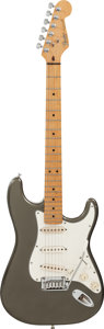 Musical Instruments:Electric Guitars, 1987 Fender Stratocaster Silver Solid Body Electric Guitar, ##348328....