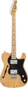 Musical Instruments:Electric Guitars, 1975 Fender Telecaster Thinline Natural Solid Body Electric Guitar,#658191....