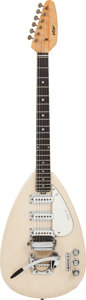 Musical Instruments:Electric Guitars, Circa 1969 Vox Mark VI White Solid Body Electric Guitar,#253462....