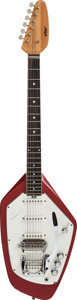 Musical Instruments:Electric Guitars, 1968+ Vox Phantom VI Red Solid Body Electric Guitar, #264675....