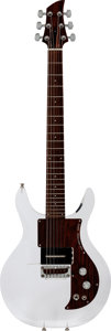 Musical Instruments:Electric Guitars, Circa-1998 Ampeg Dan Armstrong Clear Solid Body Electric Guitar,Serial # DA 98070022....