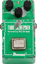 Musical Instruments:Amplifiers, PA, & Effects, Ibanez TS-808 Green Guitar Effect Pedal, #111053, Circa 1980....