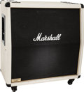 Musical Instruments:Amplifiers, PA, & Effects, 1982 Marshall 4 X 12 1982A White Guitar Speaker Cabinet, Serial #0773....