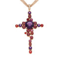 Estate Jewelry:Pendants and Lockets, Multi-Stone, Diamond, Rose Gold Pendant-Necklace, Andrew Sarosi....