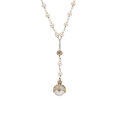 Estate Jewelry:Necklaces, Diamond, Cultured Pearl, White Gold Necklace, Devon Page McCleary . ...