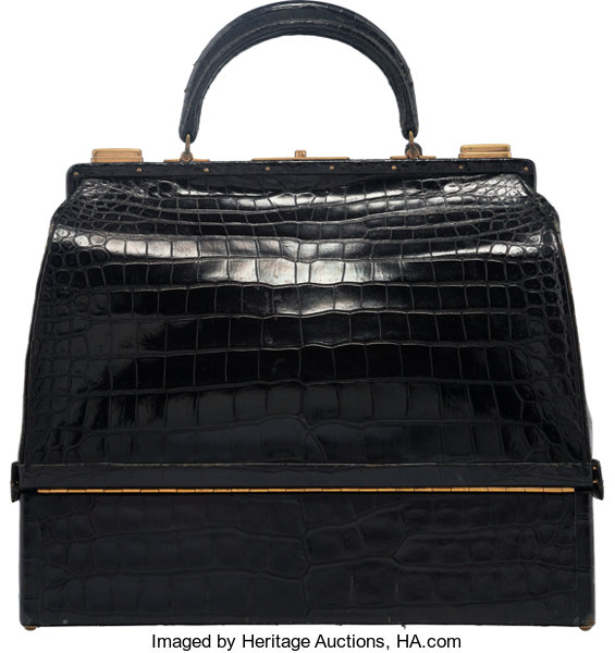 Hermes Shiny Black Crocodile Sac Mallette Bag with Gold   Lot  58171    Heritage Auctions 9db83e2843