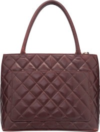 6071583db38b Chanel Red Quilted Caviar Leather Medallion Tote Bag. Good to Very ...