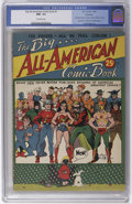 Golden Age (1938-1955):Superhero, The Big All-American Comic Book #1 Hawkeye pedigree (DC, 1944) CGC NM- 9.2 Off-white pages. A square bound comic that has 12...
