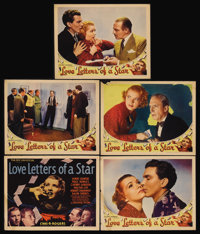 """Love Letters of a Star (Universal, 1936). Title Lobby Card (11"""" X 14"""") and Lobby Cards (4) (11"""" X 14""""..."""