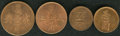 Netherlands East Indies: , Netherlands East Indies: Tobacco tokens from Borneo andSumatra:British North Borneo, Labuk Plantation 50 Cents,Mitch-3349, XF with prooflike surfac... (Total: 4 Coins Item)