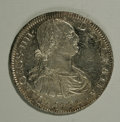 Mexico: , Mexico: Charles IIII portrait 8 Reales 1793-FM, KM109, fullylustrous UNC with slightly prooflike surfaces, an attractive coinwith...