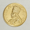 Ethiopia: , Ethiopia: Haile Selassie gold Presentation Medal ND, Gill S15, choice prooflike UNC, faint hairlines in the obverse fields, plain edge...