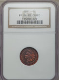 Proof Indian Cents, 1891 1C PR64 Red & Brown Cameo NGC. NGC Census: (4/2). PCGS Population: (2/5)....