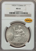 French Indo-China, French Indo-China: French Colony Piastre 1903-A MS61 NGC,...