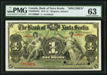 Canadian Currency: , Kingston, Jamaica- The Bank of Nova Scotia £1 January 2, 1919 Ch. #550-38-02-04S Specimen.. ...
