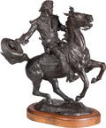 Fine Art - Sculpture, American:Contemporary (1950 to present), William Marotta (American, 1917-2007). Showman Cody, 1977.Bronze with brown patina. 13 inches (33.0 cm) high on a 1 inc...
