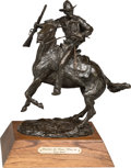 Fine Art - Sculpture, American:Contemporary (1950 to present), Grant Speed (American, 1930-2011). Watchin' the Posse CloseIn, 1970. Bronze with brown patina. 11 inches (27.9 cm) high...