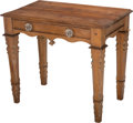 Furniture , A Texas Carved Pine Side Table, attributed to Fredericksburg, circa 1875. 28 h x 32-1/4 w x 19-3/8 d inches (71.1 x 81.9 x 4...