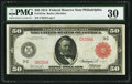 Large Size:Federal Reserve Notes, Fr. 1014a $50 1914 Red Seal Federal Reserve Note PMG Very Fine 30.. ...