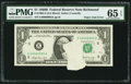 Error Notes:Printed Tears, Fr. 1905-E $1 1969B Federal Reserve Note. PMG Gem Uncirculated 65EPQ.. ...