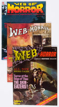 Magazines:Horror, Web of Horror #1-3 Group (Major Magazines, 1969-70) Condition: Average VF.... (Total: 3 Comic Books)