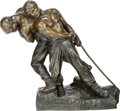 Sculpture, Henri Louis Levasseur (French, 1853-1934). Strength. Bronze with brown patina. 20 inches (50.8 cm) high. Inscribed on ba...