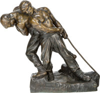 Henri Louis Levasseur (French, 1853-1934) Strength Bronze with brown patina 20 inches (50.8 cm) h