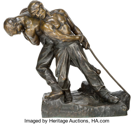 Henri Louis Levasseur (French, 1853-1934)StrengthBronze with brown patina20 inches (50.8 cm) highInscribed on ba...