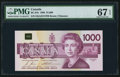 Canadian Currency: , BC-61b $1000 1988.. ...