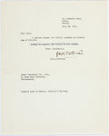 Books:Manuscripts, J. R. R. Tolkien. Typed Note Signed. Dorset: July 28, 1971.Addressed to the Royal Insurance Co.. ...