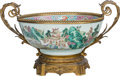 Asian:Chinese, A Gilt Bronze-Mounted Chinese Export Porcelain Bowl, 19th century.13 inches high x 21-1/2 inches wide (33.0 x 54.6 cm). ...