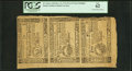 Colonial Notes:South Carolina, South Carolina December 23, 1776 $2, $3, and $4 Uncut Strip of Three PCGS New 62.. ...