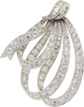 Estate Jewelry:Brooches - Pins, Diamond, Platinum-Topped Gold Brooch. ...